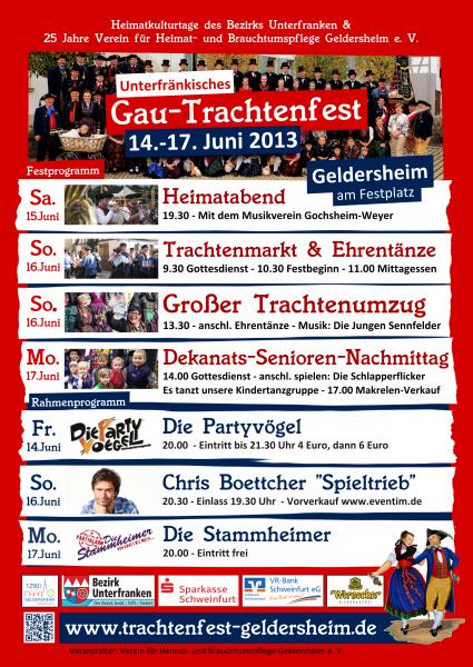 Gau-Trachtenfest 2013 in Geldersheim