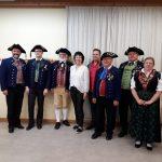 Von links: Bürgermeister Oliver Brust, Philip Erhard, Ehrenvorstand Wilfried Brust, Gabi Lenz, Jochen Sahlender, Peter Kluge, Elmar und Birgit Hübner