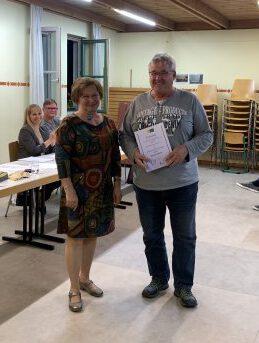 2020-09-30 Ehrung Elmar Hübner 25 Jahre Theater
